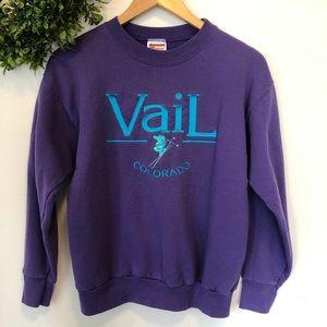 Vintage Vail, Colorado Ski Resort Crew Sweatshirt